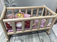 Кроватка для кукол дерево