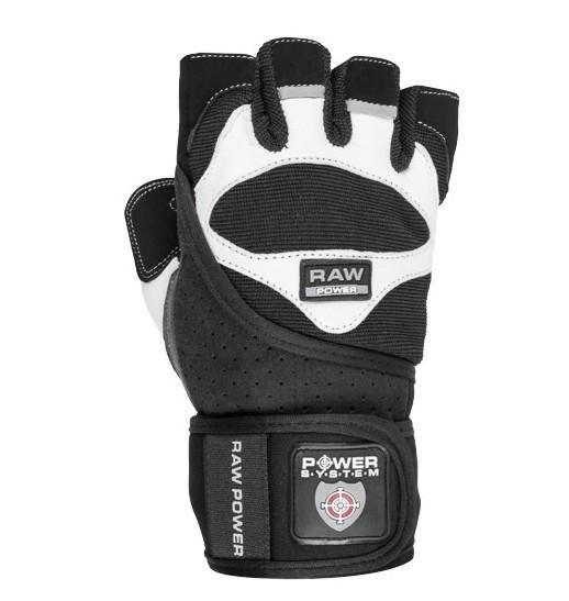 Перчатки для тяжелой атлетики Power System Raw Power PS-2850 Black/White