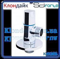 Кран шаровый угловой (круглый) с керамической буксой SD Forte 1/2*1/2