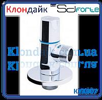 Кран шаровый угловой (круглый) с керамической буксой SD Forte 1/2*3/4