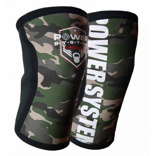 Наколенники для Crossfit Power System Knee Sleeves Camo PS-6032 S/M Black/Green