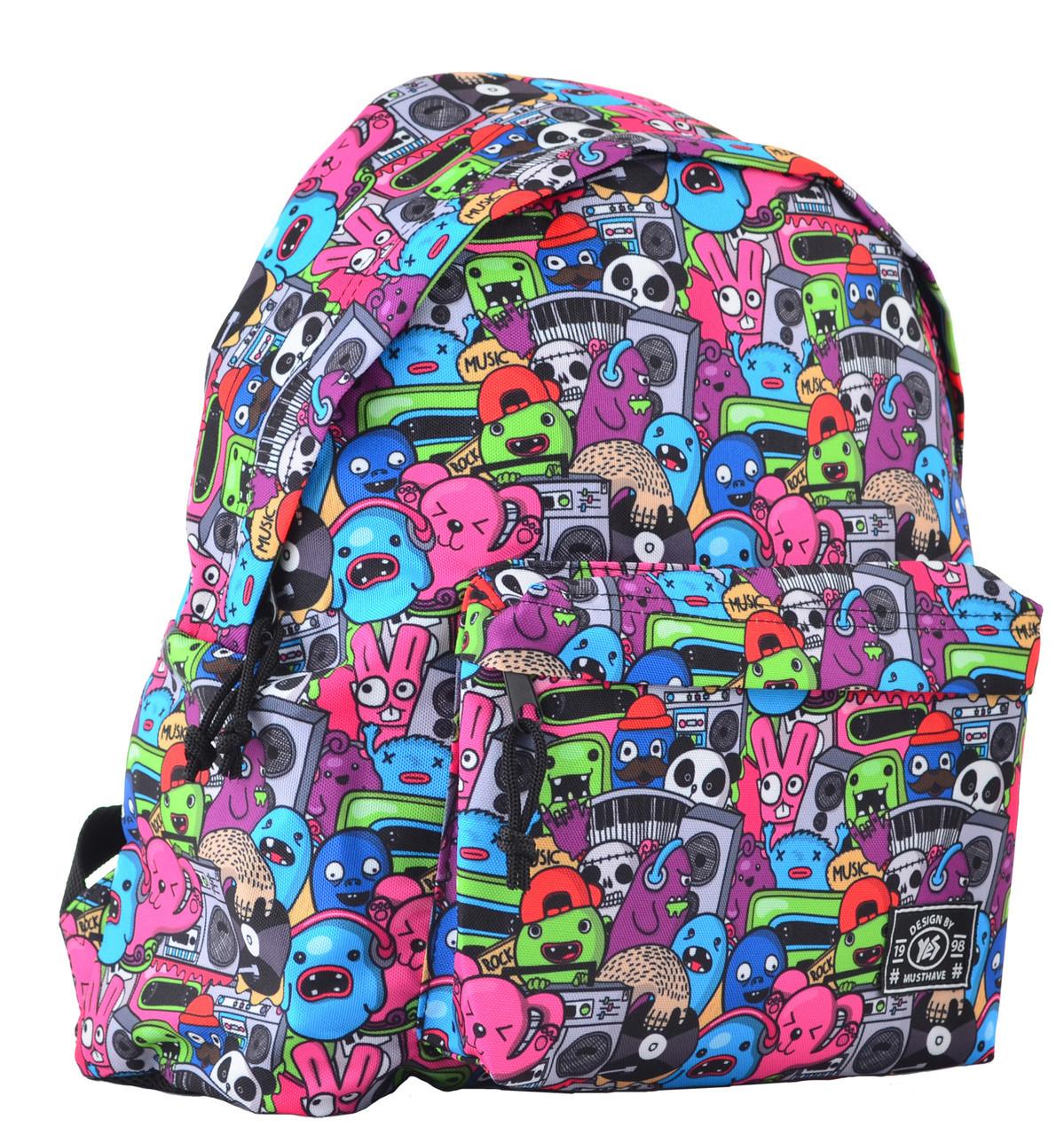 Рюкзак підлітковий ST-17 Crazy muzic, 42*32*12