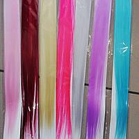 Пряди волос цветные