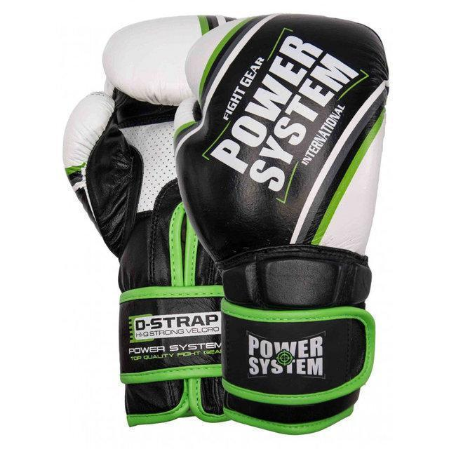 Перчатки для бокса PowerSystem PS 5006 Contender 12oz Black/Green Line