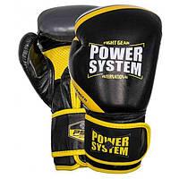 Перчатки для бокса PowerSystem PS 5005 Challenger 16oz Black/Yellow, фото 1