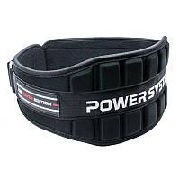 Пояс неопреновый для тяжелой атлетики Power System Neo Power PS-3230 Black/Red M, фото 1