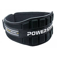 Пояс неопреновый для тяжелой атлетики Power System Neo Power PS-3230 Black/Yellow M, фото 1