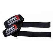 Кистевые ремни Power System Power Straps PS-3400 Black/Red, фото 2