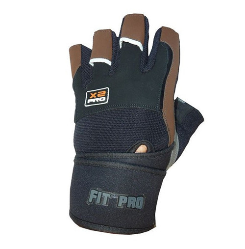 Перчатки для тяжелой атлетики Power System X2 Pro FP-02 Black/Brown S