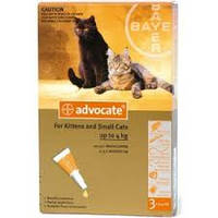 Advocate (Адвокат) капли для кошек весом до 4 кг(3шт)