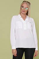 Белая блуза ЖАННА-Б Д/Р ТМ Glem 50-54 размеры