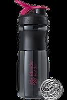 Спортивная бутылка-шейкер BlenderBottle SportMixer 820ml Black/Pink (ORIGINAL), фото 1