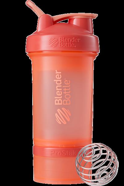 Шейкер спортивный BlenderBottle ProStak 650ml с 2-мя контейнерами Coral (ORIGINAL)