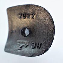 Каблук женский пластиковый 2022 серебро р.1-3  h-9,2-9,9 см., фото 3