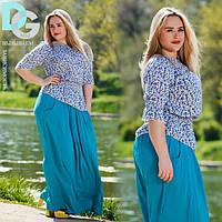 Женская летняя юбка больших размеров