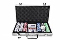 Набор для игры в покер в алюминиевом кейсе, 300 фишек., фото 1