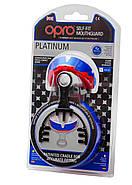 Капа OPRO Platinum Series Blue/Pearl/Red (art.002197001), фото 5