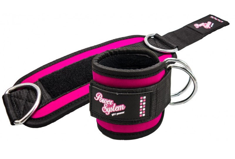 Манжеты на лодыжку Power System Ankle Strap Gym Babe PS-3450 Pink