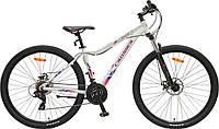 """Горный женский велосипед Crosser Angel 29"""" белый"""