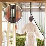 Антимоскітна дверна сітка антимоскітна захист, фото 2
