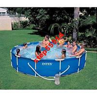 Каркасный бассейн Intex 28212(366-76см)+насос.