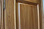 Двері з феленкой з масиву ясена та фігурним лиштвою, фото 8