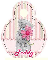 Медальки для конкурсов мишка Тедди розовые
