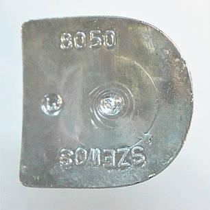 Каблук женский пластиковый 8050 гальваника серебро  р.1-3  h-7,8-8,3 см., фото 2