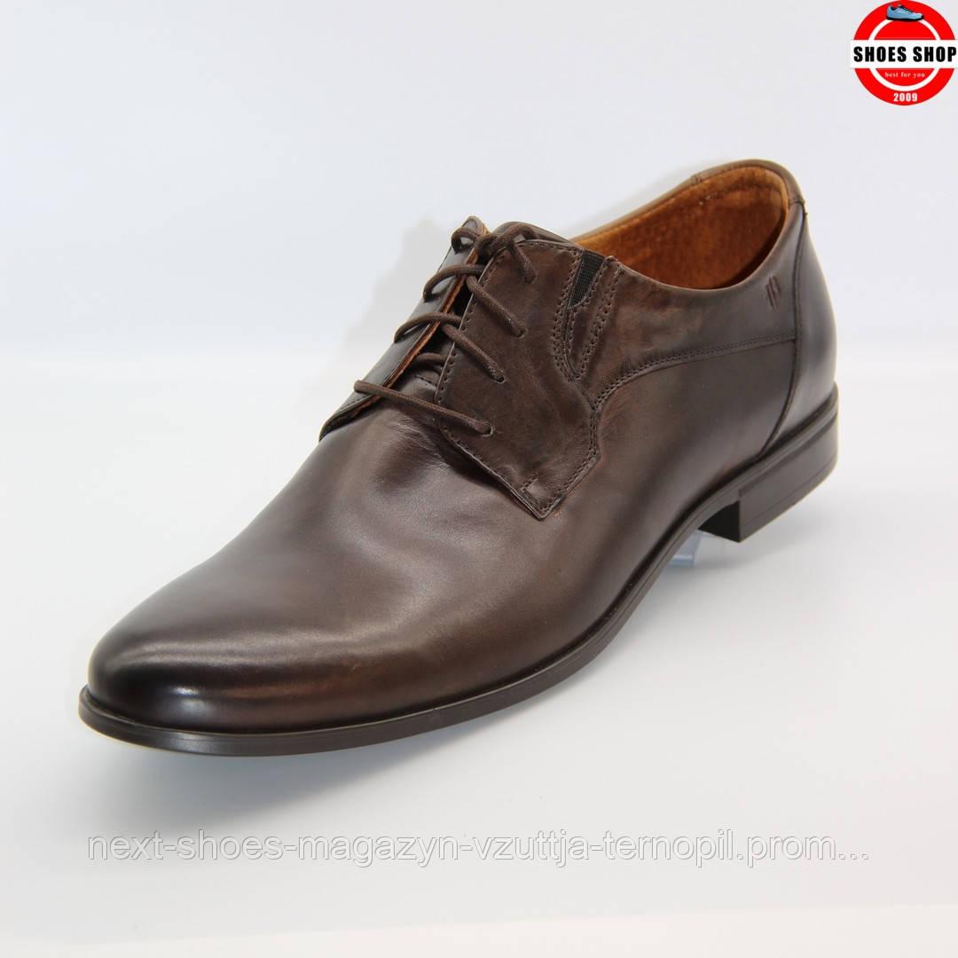 Чоловічі дербі Badura (Польща) коричневого кольору. Дуже стильні та комфортні. Стиль - Деніел Крейг