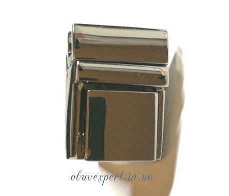 Замок сумочный, портфельный клавишный 20*27 мм  Никель, фото 2