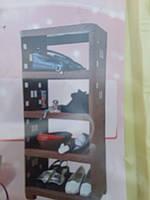 Этажерка Ротанг четырехсекционная пластиковая
