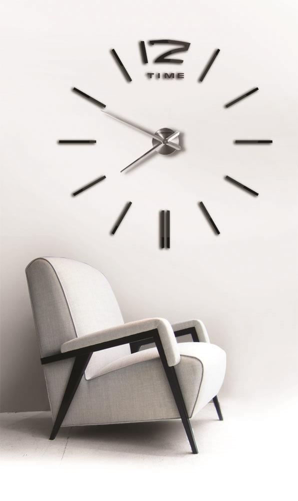"""Годинники настінні Esperanza EHC007K San Marino 3D black """"ЗРОБИ САМ"""""""