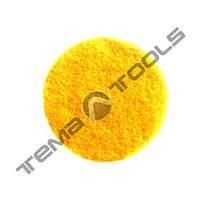 Круг шлифовальный скотч брайт на липучке Ø50 мм P1000 Yellow