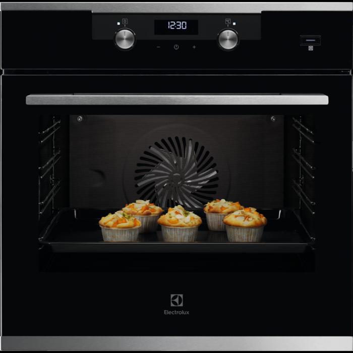 Встраиваемая духовка с функцией паровой печи Electrolux KODEC75X