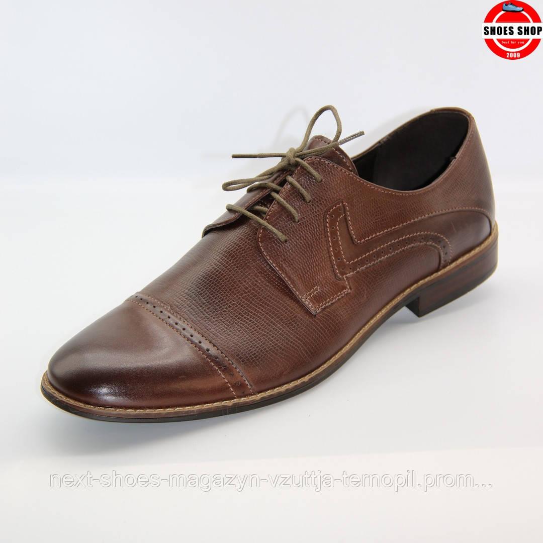 Чоловічі дерби TAPI (Польща) коричневого кольору. Дуже зручні и комфортні. Стиль - Джонні Депп