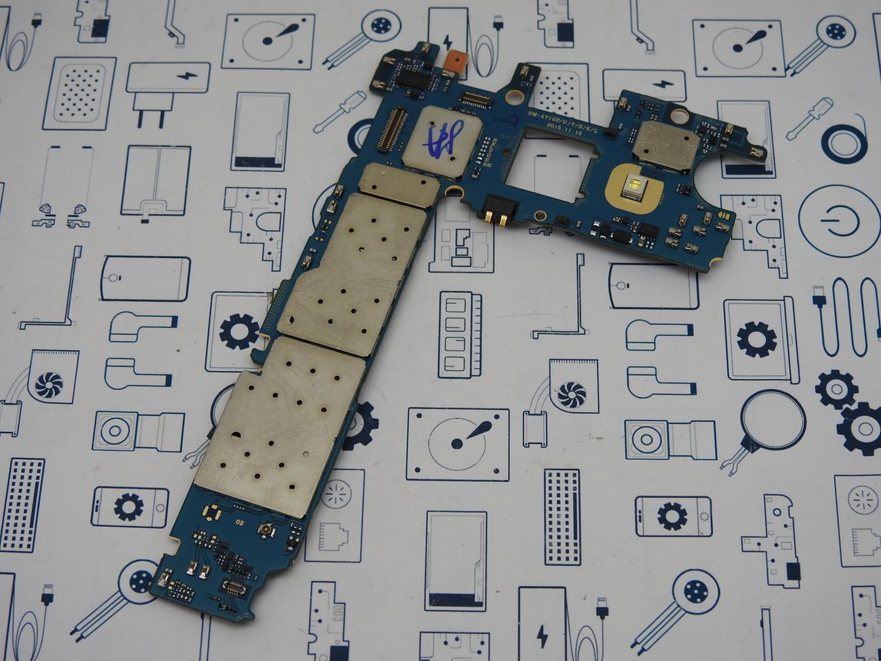 Материнская плата Samsung Galaxy A7 (2016) Duos SM-A710F 3\16GB UACRF оригинал с разборки (100% рабочая)