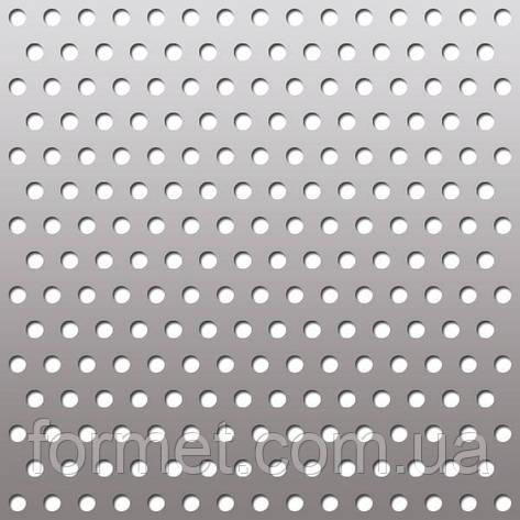 Лист перфорированный 0,7*1000*2000 (яч.д.5) шаг 8 цинк, фото 2