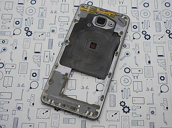 Средний корпус Samsung Galaxy A7 (2016) Duos SM-A710F серый Сервисный оригинал с разборки