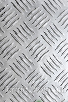 Лист алюминиевый рифленый 1,0*1000*2000 АД0