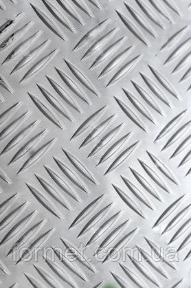 Лист алюминиевый рифленый 3,0*1250*2500 АД0