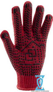 Рукавички робочі х/б червона з ПВХ покриттям Рубежтекс 118 (Україна)