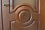 Межкомнатные двери в темном цвете со стеклом, фото 2