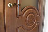Міжкімнатні двері в темному кольорі зі склом, фото 3