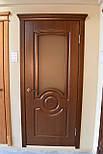 Міжкімнатні двері в темному кольорі зі склом, фото 5