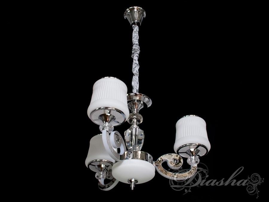 Класична люстра на 3 лампи з підсвічуванням 8368/3HR