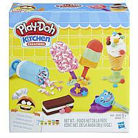 Набор теста Игровой для лепки Создай любимое мороженое Play Doh Kitchen Creations Оригинал E0042 Плей до 280 г