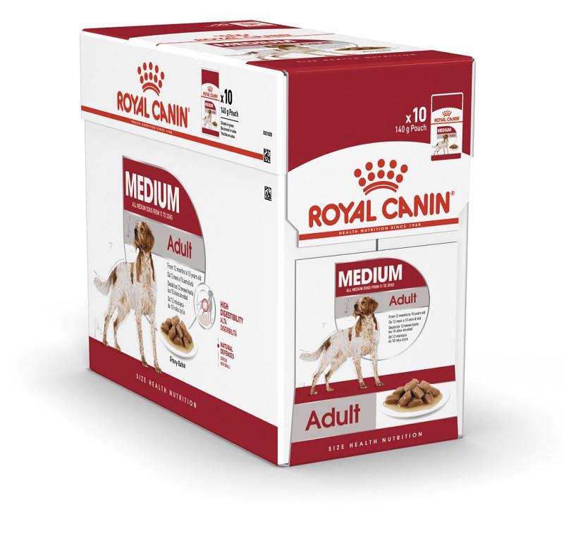 Royal Canin Medium Adult (Роял Канін Медіум Эдалт) - вологий корм для дорослих собак середніх порід 140г*10шт