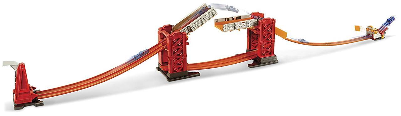Hot Wheels Трек Хот Вилс Разводной мост (Hot Wheels Track Builder Stunt Bridge Kit)