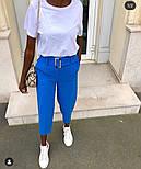 Женские стильные брюки-бананы с высокой посадкой (в расцветках), фото 3