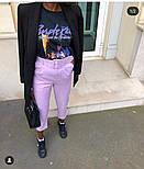 Женские стильные брюки-бананы с высокой посадкой (в расцветках), фото 2
